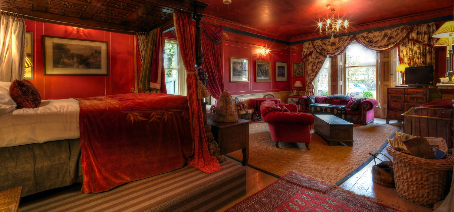 Strattons Hotel Luxury Boutique Accommodation, Swaffham, Norfolk - Red Room Suite